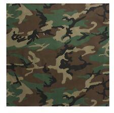 "Bandana  22"" X 22"" Camouflage Military Cotton Biker Camo Army  Rothco"
