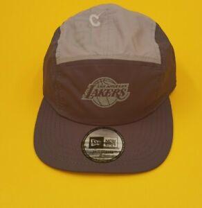 New Los Angeles Lakers Men's New Era 5 Panel Camper Hat Reflective