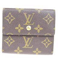Auth Louis Vuitton Portfoil Eelries M61654 Monogram Wallet (tri-fold) Br 07FA596