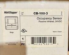 WattStopper CB-100-3 Occupancy Sensor Passive Infrared, 24VDC