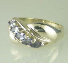 Anelli di lusso con gemme naturale in argento con pietra principale tanzanite