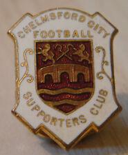 Chelmsford ciudad Rara Vintage insignia del club de seguidores Maker J.l Bickell Ojal