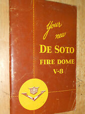 1953 DE SOTO OWNER'S MANUAL / GUIDE / RARE ORIGINAL DeSOTO  BOOK!!!