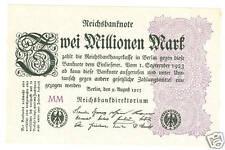 Zwei Millionen Mark 1923  kassenfrisch  Ro.103e