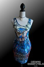 Robe courte femme Collection Galaxy  Vitrail Hibou