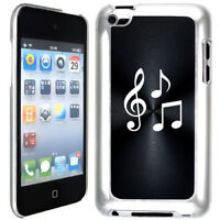 Black Apple iPod Touch 4th Generation 4g Hard Case Cover B630 Music Notes