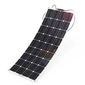 100W Flexible Solar Panel Monocrystalline 12V/24V .Campervan, Motorhomes, Boats