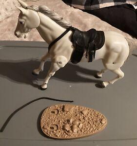 1973 Gabriel Lone Ranger's horse SILVER w/saddle & base