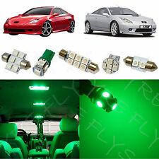 5x Green LED lights interior package kit for 2000-2005 Toyota Celica TC6G