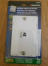 Monster 140093-00 Wall Mount Telephone Line Wall Plate White NEW loc568