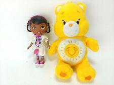 "Doc McStuffin Figurine 5"" And Funshine bear Care bear 8.5"" tall stuff"