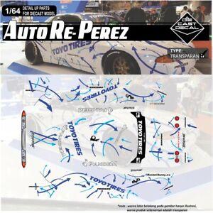 1:64 Hotwheels Autoreperez Nissan Skyline Gtr R32 Decal Toyo Tires Arrow Pandem