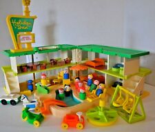 Vintage Fisher Price Little People / Holiday Inn with swimming pool LOADED!!!!