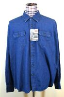 Wrangler Mens Blue Jean Denim Comfort Classic Fit Big Shirt 2XL