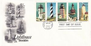 USA 1990 FIRST DAY COVER LIGHTHOUSES