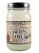 NEW Trader Joe's(16 fl oz) Coconut Certified Organic Extra Virgin Coconut Oil by