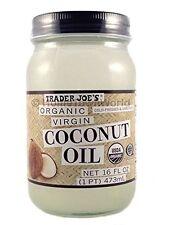 NEW Trader Joe's(16 fl oz) Coconut Certified Organic Extra Virgin Coconut Oil by