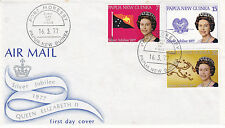 PAPUA NEW GUINEA 1977 SILVER JUBILEE OFFICIAL FIRST DAY COVER FDI CANCEL
