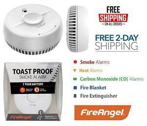 Fireangel Smoke Alarm Optical Sensor Detector Sound Battery Powered Fire Safety