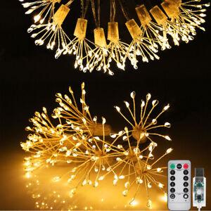 150 LED Firework Starburst String Fairy Lights Waterproof Hanging Outdoor Garden