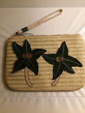 Parfois Wristlet Summer Palm Tree Leather Clutch