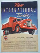 1941 International Harvester Trucks 6 Wheel Diesel Dump Vtg Magazine Print Ad