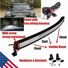 52 INCH LED curved light bar for truck SUV 4WD boat UTE driving ATV Ford F250 54