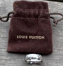 Superbe Bague Louis Vuitton Nanogram Argente  T 56 Neuve