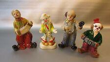 Lot of 4 Ceramic Clowns - glazed