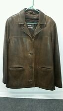 Leather Jacket  Button Up Excellent Used Condition Sz Large Leather Limited