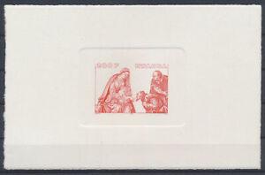 LN49355 Rwanda religious art paintings imperf sheet MNH