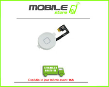 NAPPE + BOUTON HOME BLANC POUR IPHONE 4S