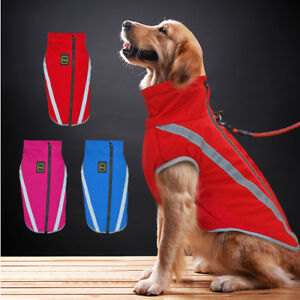 Dog Coat Waterproof Reflective Dog Clothes Jacket for Medium Large Dogs Labrador