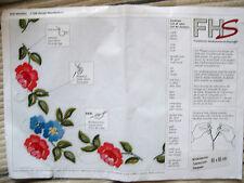 Tischdecke - Mitteldecke 80 x 80 cm Blumen
