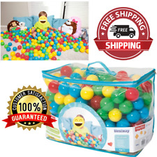 "2.5"" Play Balls Assorted 500pc Color Ball Smooth Seam Playpen Accessories NEW"