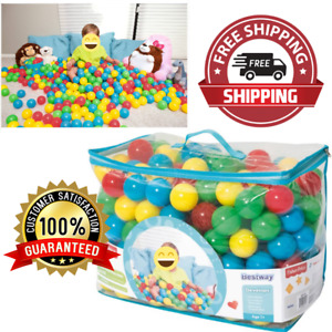 """2.5"""" Play Balls Assorted 500pc Color Ball Smooth Seam Playpen Accessories NEW"""