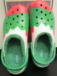 Crocs Holiday lined Christmas slip-on Toasty Women's U.S 12 / Furry Men's USA 10