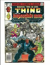 MARVEL TWO IN ONE # 60 (THE THING & IMPOSSIBLE MAN, Cents, FEB 1980), VF/NM
