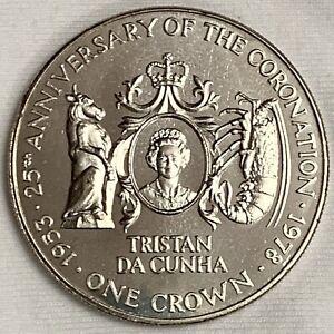 1978 Tristan Da Cunha Crown Proof-Like ~ 25th Anniversary of Coronation (L217)