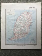 1959 First Edition Map of Grenada of Directorate of Colonial Surveys