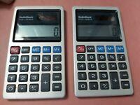 Vintage RadioShack dual power calculator lot