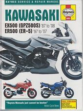 KAWASAKI EX500A EX500D EX500E ER500A ER500C 1987 - 2008 SERVICE & REPAIR MANUAL