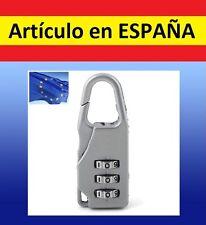 CANDADO 3 digitos numeros para maletas viajes gimnasio seguridad bolsa taquilla