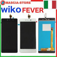 Completo TOUCH SCREEN VETRO + LCD DISPLAY ASSEMBLATO per WIKO FEVER 4G