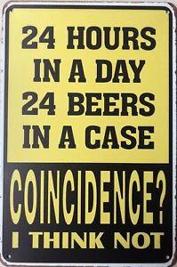 BEER Rustic Look Vintage Tin Metal Sign Man Cave, Shed-Garage & Bar Sign