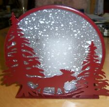 NWOT Moose Candle Display With Battery-Operated Candle So Amazing!  Look!
