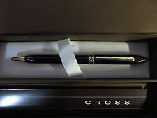 Cross Townsend Black Lacquer Ballpoint Pen Gold Plated Appts MADE USA  $149.00