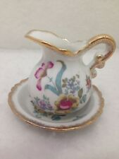 Vintage Limited Edition Royal Crown Hand Painted Pitcher and Basin Made in Japan