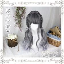 Wig Japanese Vintage Gothic Cosplay Lolita Harajuku Gray Gradient Daily Curly