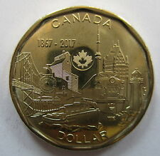 2017 CANADA $1 1867-2017 150TH ANNIVERSARY OF CANADA BRILLIANT UNCIRCULATED COIN